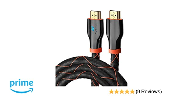 HIGH-SPEED HDMI TO HDMI 4K BRAIDED CABLE 6.5 FT - 60HZ UHD, 18GBPS READY - GOLD PLATED HDMI 2.0 CONNECTORS - ETHERNET AND ARC SUPPORT - FOR LAPTOP, LCD, APPLE TV, NINTENDO