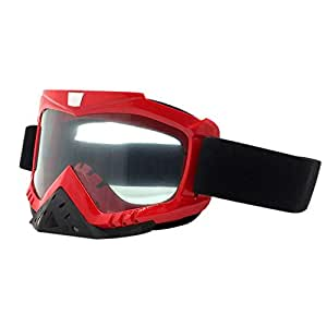 Moberlin Casco Gafas para Motocicleta - Gafas a Prueba de Viento de Motocross a Prueba de Polvo Moto Cinturón Flexible para Mujeres Hombres Snowboard ATV Riding Race