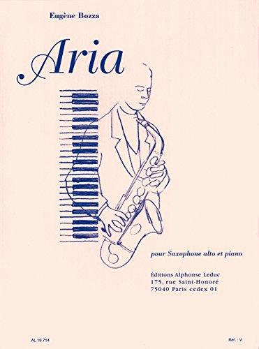 Eugene Bozza AL19714 Aria for Alto Saxophone and Piano/Aria pour Saxophone Alto ET Piano