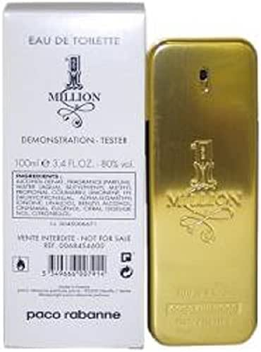 Paco Rabanne 1 Million for Men Eau de Toilette Spray 3.4 Fl Oz Plain Box