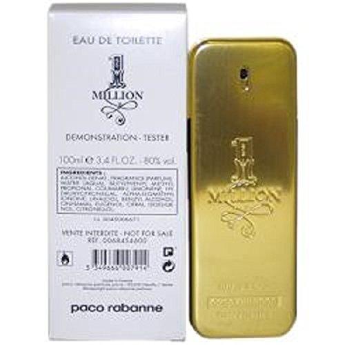 (Paco Rabanne 1 Million for Men Eau de Toilette Spray 3.4 oz Plain Box)