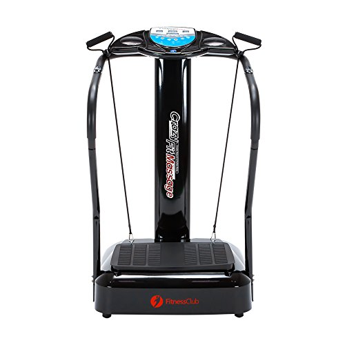 Crazy Fit Massage Machine, Slim Full Body Vibration Platform, Training and Exercise Fitness Machine, 330LBS Weight capacity with Yoga Straps and MP3 Player (1-180 Speed Levels)