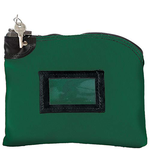 10W x 8H Locking Deposit Bags – Forest Green Canvas