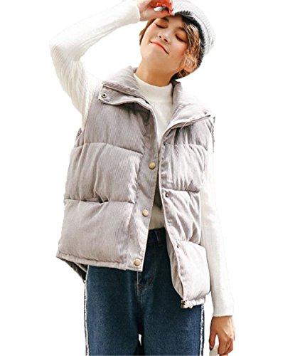 太字クーポン誘導JIANGWEI レディース ベスト 中綿 ベスト ダウンベスト 原宿風 ショート丈 無地 カジュアル ファション 秋冬 防寒 学院風