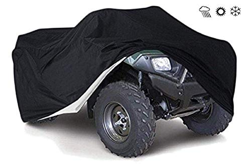 (Tokept 190T Black Quad Bike ATV ATC Rain WaterProof Cover XXL Size 88'' x 39.2'' x 42.4'')