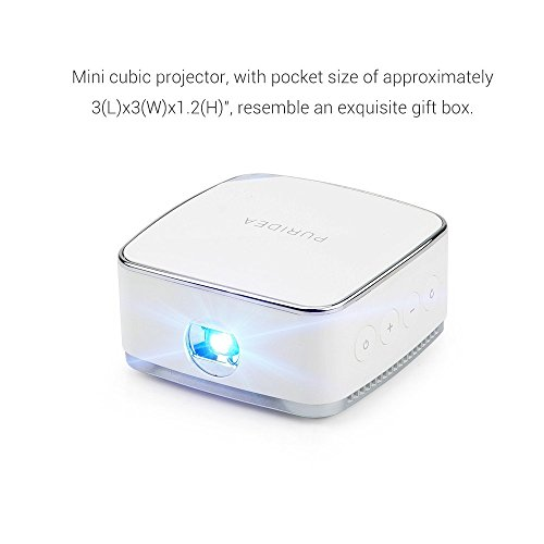 Lightwish white dlp projector mini mobile cubic p on for Apple projector price