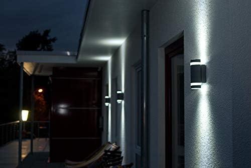 LUTEC 2er Set Aussenleuchte Focus, GU 10 auch für LED-Leuchtmittel, Anthrazit