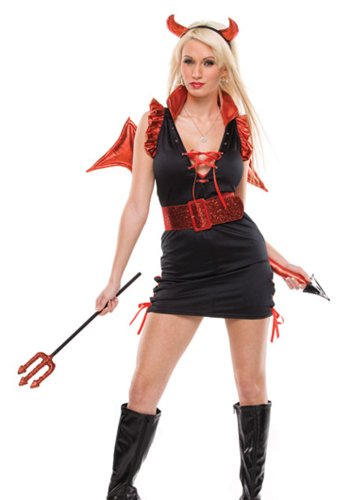 Lady Lucifer Sexy Costume (M/L) (Sexy Demon Costume)