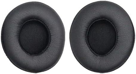 交換用 イヤーパッドクッション パーツ Beats Solo 2.0ヘッドフォン用 全3色 - ブラック