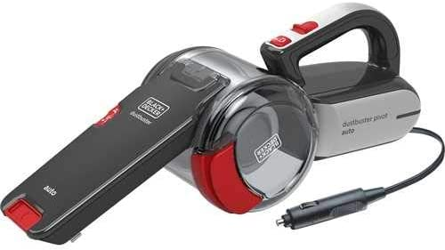 Black+Decker 12V DC Pivot Cyclonic Auto Vac/Car Vacuum Cleaner with 3 Stage Filteration, Multicolour - PV1200AV-B5, 2 Years Warranty