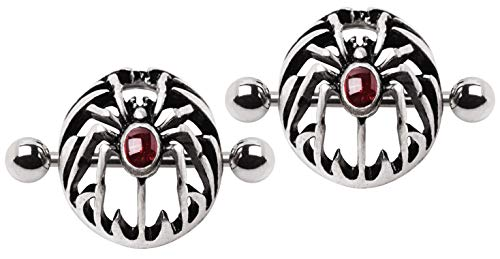- Pierced Owl Gothic Spider Domed Nipple Shield, Sold as a Pair
