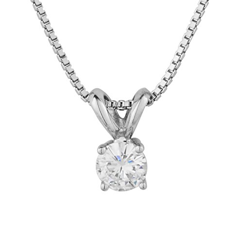 Forever Classic Round Cut 6.0mm Moissanite Pendant Necklace, 0.80ct DEW By Charles & Colvard