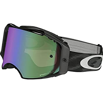 d5463fb7dad3e Oakley Airbrake MX Adult Off-Road Motorcycle Goggles Eyewear - Jet  Black Prizm MX Jade One Size Fits All