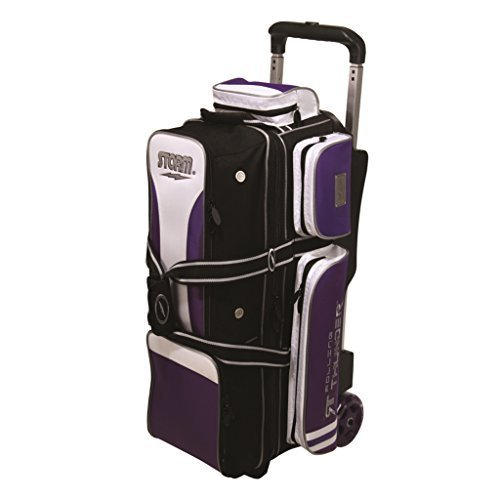3 Ball Rolling Thunder Bowling Bag by Storm- Purple/Black/White ()