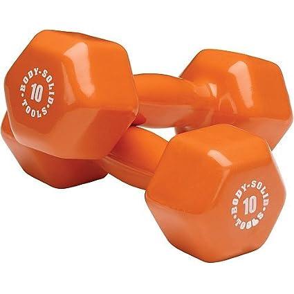 Body Solid Herramientas vinilo mancuernas 4,5 kg – par
