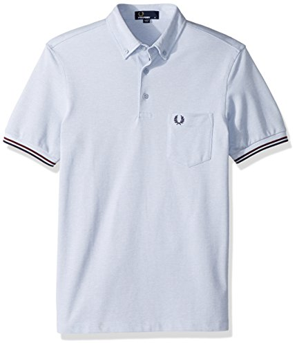 Fred Perry Men's Oxford Pique Shirt, White Smoke OXF, Medium (Perry Pique White Fred)