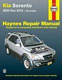 H54077 Kia Sorento 2003-2013 Haynes Repair Manual