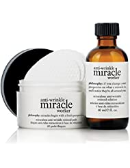 Philosophy Miracle Worker Retinoid Pads, 60 Count & Solution 2 fl. oz.