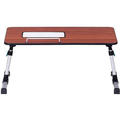Height Adjustable Laptop Bed Tray Standing Desk With Cooling Fan Portable - My Glasses Hinge Fix