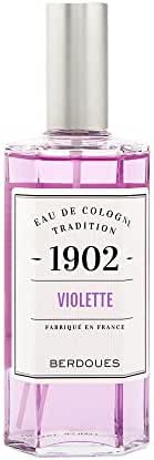 Berdoues 1902 Violette Eau de Cologne Tradition Spray for Women, 4.2 Fluid Ounce