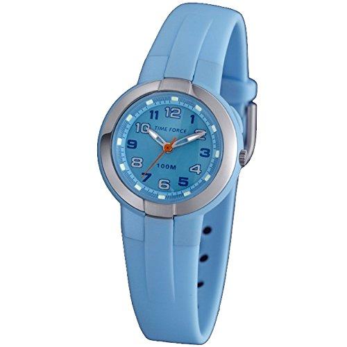 Reloj TIME FORCE de niño/niña Sumergible. Correa de caucho. Azul. TF-3387B03: Amazon.es: Relojes