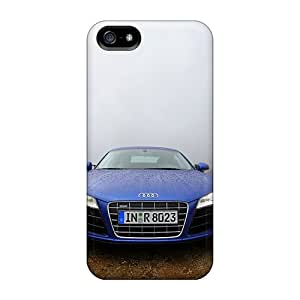 Awesome Design Audi R8 Blue Hard Case Cover For Iphone 5/5s