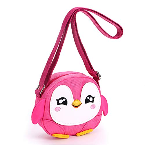 b938af738 Sumnacon Little Girls Small Purse Shoulder Handbag Cross Body Messenger Bag  with Zipper - Nice Stocking Filler (Penguin Pink)