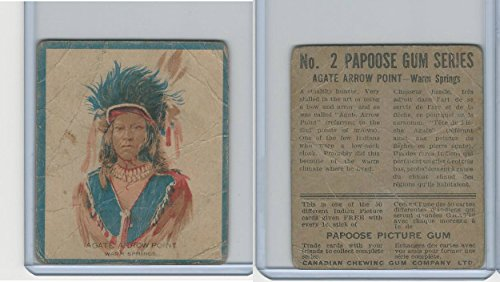 V254 Canadian CG, Papoose Gum Indians, 1934, 2 Agate Arrow Point