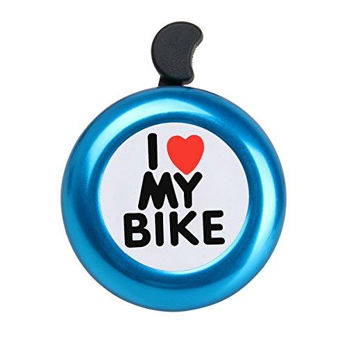 AD I Like My Bike Bell - Bicycle Bell - Loud Aluminum Bike Horn Ring Mini Bike Accessories for Men Women Kids Girls Boys Bikes
