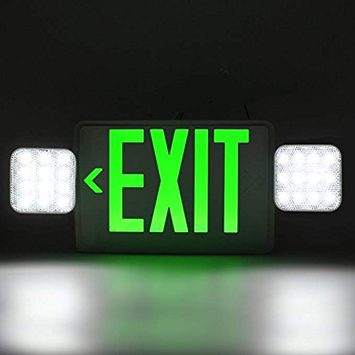 Ainfox 6 Pack LED Exit Sign Emergency Wall Light, Back -up Letter Cover (green/6pack) by Ainfox (Image #4)