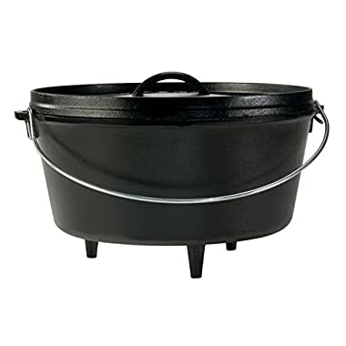 Lodge Seasoned Cast Iron Deep Camp Dutch Oven - 12 Inch / 8 Quart