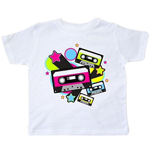 inktastic - The 80s Cassette Tapes Toddler T-Shirt 4T White -