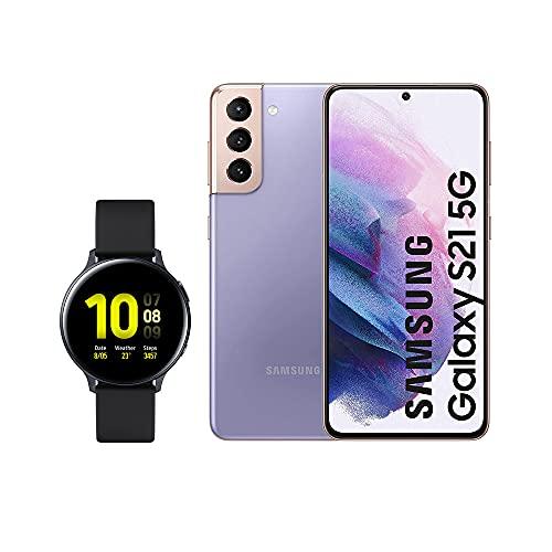 SAMSUNG Smartphone S21 5G 256 GB Violeta con Watch Active 2
