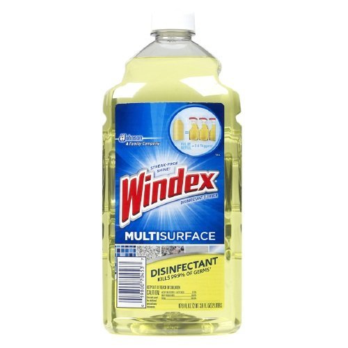 Windex Disinfectant Cleaner Refill Multi Surface 2 Liter (67.6oz)