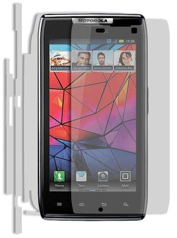 (Motorola Droid Razr Screen Protector + Full Body, Skinomi TechSkin Full Coverage Skin + Screen Protector for Motorola Droid Razr Front & Back Clear HD Film)