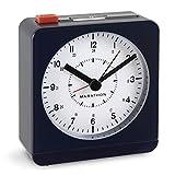 Marathon Reloj Despertador de computadora analógico con luz de Noche automática, Pilas Incluidas, Azul Midnight