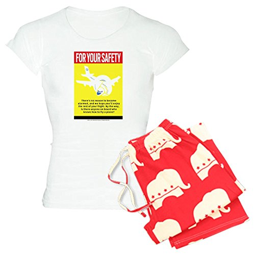 CafePress Safety_Light.Png Pajamas Womens Novelty Cotton Pajama Set, Comfortable PJ Sleepwear
