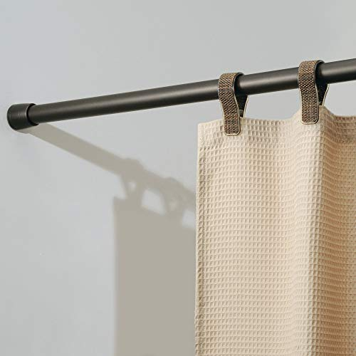iDesign Cameo Metal Tension, Adjustable Customizable Curtain Rod for Bathtub, Shower Stall, Closet, Doorway, 50