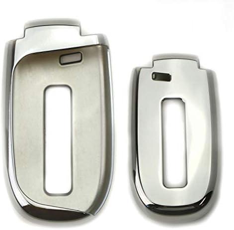 [해외]iJDMTOY TPU 키 커버 케이스 Dodge 호환 크롬 / iJDMTOY TPU 키 커버 케이스 Dodge 호환 크롬