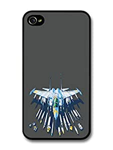 Fighter Jet Airplane Paint Brush Cool Hipster Style Illustration For Apple Iphone 5C Case Cover