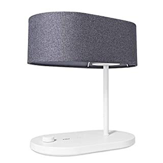 TaoTronics LED Table Lamp Dimmable Bedside Lamp Modern Nightstand Lamp with USB Charging Port, Warm & RGB Color Light, Grey Fabric Shade Desk Lamps for Living Room, Bedroom, Bedside, Office and Dorm