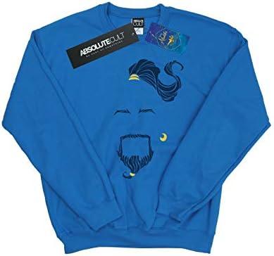 Disney Herren Aladdin Movie Genie Blue Face Sweatshirt Königsblau XXX-Large
