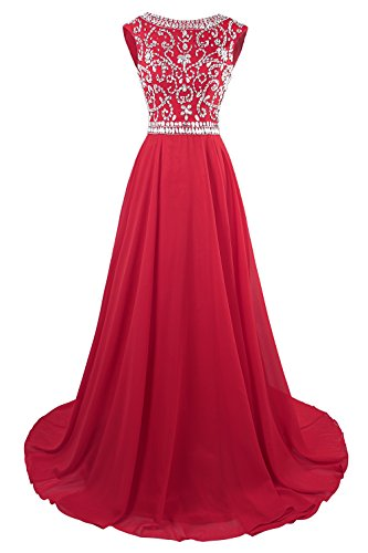 Beaded Sleeve Cap Cap (MsJune Long Prom Dresses Cap Sleeves Bridesmaid Wedding Guest Gowns Beaded 2017)