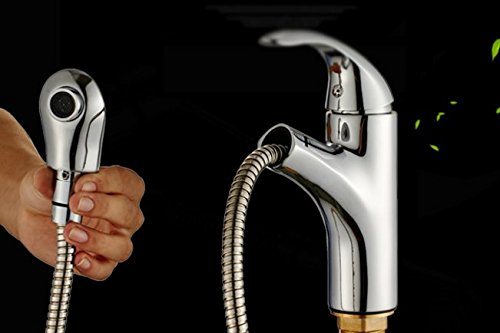 AWXJX Mixer Water Tap Hot and cold copper Pull out Wash your face bathroom by AWXJX Sink faucet