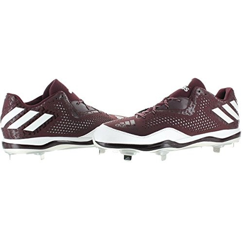 X Maroon adidas Men's Shoe Mid Freak Metallic Carbon White Baseball Silver xPxwTCq0