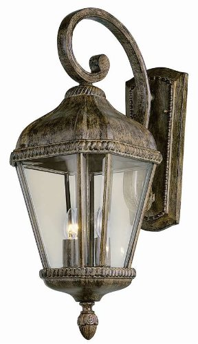 Trans Globe Lighting 5150 BRT Outdoor Covington 22.5″ Wall Lantern, Burnished Rust Review