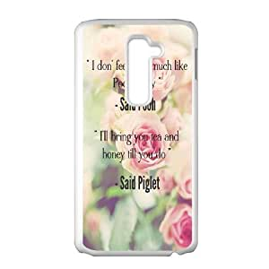 Diy Beautiful Quotes Sunflower Phone Case for LG G2 White Shell Phone JFLIFE(TM) [Pattern-1]