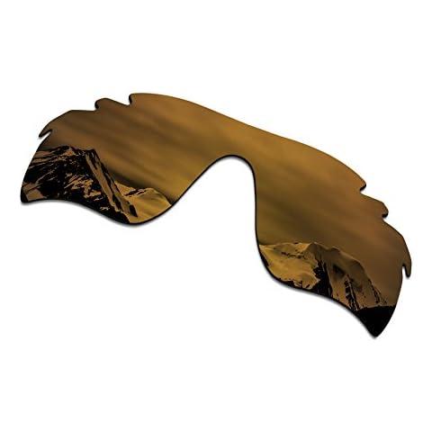 64beec1272a SmartVLT Men  39 s Bronze Gold Replacement Lenses for Oakley RadarLock Path  Vented Sunglass