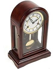 Mechanical Table Clock - Antique Solid Wood Time Clock Clock - All Copper Movement Living Room Clocks Sitting Clock Ornaments