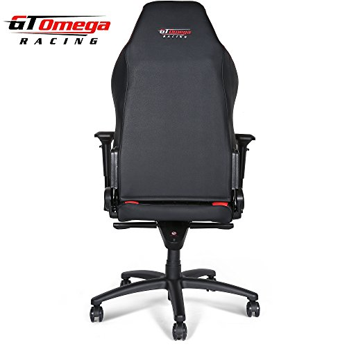 Gt Omega Evo Xl Racing Office Chair Black And Red Leather